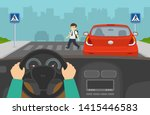 driving a car. hidden... | Shutterstock .eps vector #1415446583