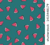 seamless pattern with summer... | Shutterstock .eps vector #1415448179