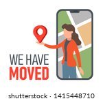 we have moved  web banner... | Shutterstock .eps vector #1415448710