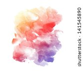 watercolor background. colorful ... | Shutterstock . vector #141545890