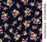 seamless cute small textile... | Shutterstock .eps vector #1415465486