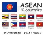 asean and membership flag .... | Shutterstock .eps vector #1415470013