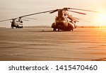 Chinook Helicopter On A...