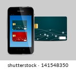 credit card and phone ... | Shutterstock . vector #141548350