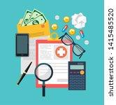 health insurance  life...   Shutterstock . vector #1415485520