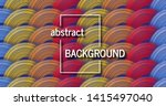 trendy geometric colorful... | Shutterstock .eps vector #1415497040