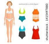 options for swimsuits for women ...   Shutterstock .eps vector #1415497880