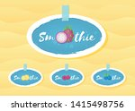 smoothie fruit cocktail label... | Shutterstock .eps vector #1415498756