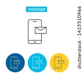 mobile message outline icons... | Shutterstock .eps vector #1415510966