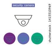 security camera outline icons... | Shutterstock .eps vector #1415510969