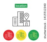 geo location outline icons set. ... | Shutterstock .eps vector #1415512340