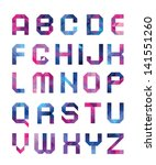 colorful font from triangles | Shutterstock .eps vector #141551260
