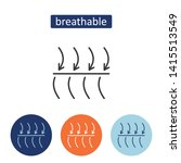 breathable fabric outline icons ... | Shutterstock .eps vector #1415513549