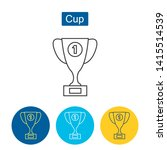 trophy cup icon. winner cup... | Shutterstock .eps vector #1415514539