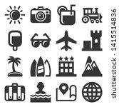 summer icons set on white... | Shutterstock .eps vector #1415514836