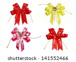 4 lovely of fabric bow have... | Shutterstock . vector #141552466