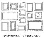 hand drawn frames. doodle... | Shutterstock . vector #1415527373