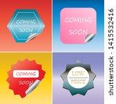 set of peel off sticker  space... | Shutterstock .eps vector #1415532416