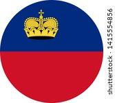 liechtenstein flag illustration ... | Shutterstock .eps vector #1415554856