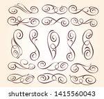 set of elegant decorative... | Shutterstock .eps vector #1415560043
