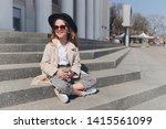 little girl portrait on the... | Shutterstock . vector #1415561099