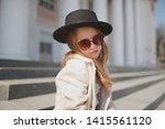 little girl portrait on the... | Shutterstock . vector #1415561120