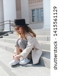 little girl portrait on the... | Shutterstock . vector #1415561129