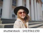 little girl portrait on the... | Shutterstock . vector #1415561150