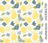 cute lovely modern summer... | Shutterstock .eps vector #1415561750
