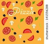 pizza menu template ...   Shutterstock . vector #141556288