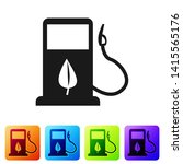 black bio fuel concept with... | Shutterstock .eps vector #1415565176