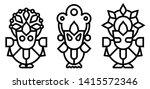 lord jagannath  balabhadra and... | Shutterstock .eps vector #1415572346