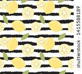 cute lovely modern summer... | Shutterstock .eps vector #1415588189