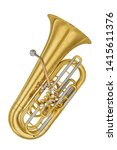 Gold vintage tenor horn tuba...