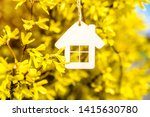the symbol of the house among... | Shutterstock . vector #1415630780
