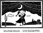 dancing in the moonlight of the ... | Shutterstock .eps vector #1415636990