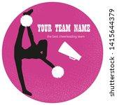 violet logo  silhouette... | Shutterstock .eps vector #1415644379