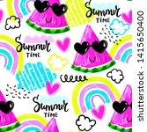 fashion tropics funny... | Shutterstock .eps vector #1415650400