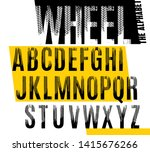 wheel. grunge tire letters. off ... | Shutterstock .eps vector #1415676266