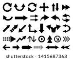 vector set of arrow shapes... | Shutterstock .eps vector #1415687363