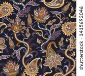 seamless pattern with ethnic ... | Shutterstock .eps vector #1415692046