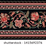 seamless border with ethnic ... | Shutterstock .eps vector #1415692376