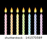 Colorful Birthday Candles....