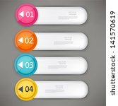 set of colorful bookmarks ... | Shutterstock .eps vector #141570619