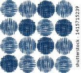 Navy Blue Stylized Circles Dots ...