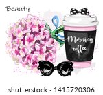 hand drawn stylish set with... | Shutterstock .eps vector #1415720306