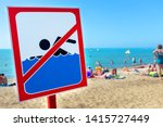 A Sign On The Beach Is Not...