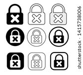 set of simple sign lock icon   Shutterstock .eps vector #1415738006