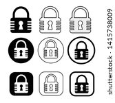 set of simple sign lock icon   Shutterstock .eps vector #1415738009