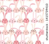 seamless pattern with lovely... | Shutterstock .eps vector #1415739410